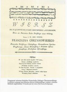 Fragment wiersza ks. F. I. Chrzanowskiego, Proboszcza Ostrowski