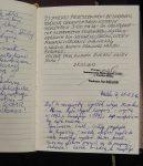 10/16 Fragmenty księgi pamiątkowej wystaw...