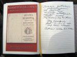15/16 Fragmenty księgi pamiątkowej wystaw...